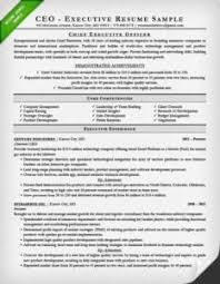 CEO Cover Letter Sample Executive Resume For A