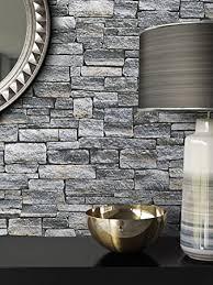 steintapete vlies stein muster grau schöne edle tapete im