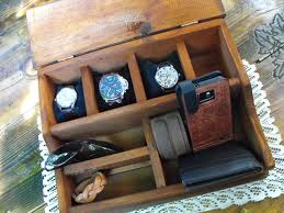Mens Dresser Top Valet by Watch Box Mens Watch Organizer Mens Watch Box Storage Organization