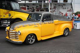 Custom Pickup Trucks | Custom Chevrolet Truck With 2-tone Yellow And ...