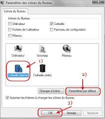 tutoriel icônes corbeille l installation sous windows 7 ou vista