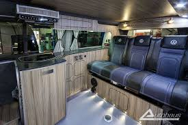 This Fantastic Indium Grey Spartan VW Campervan With Blue Leather Was Made By Autohaus Campervans In Somerset SouthWest UK