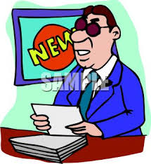 Royalty Free Clipart Image News Anchorman Doing His Report