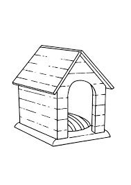 Free Coloring Pages For Kids Part 74 Dog House