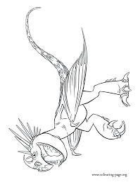 Stormfly The Astrids Dragon Coloring Sheet