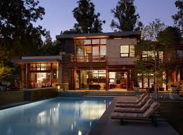 104 Modern Dream House Mandeville Canyon Residence Night Swimming Pool Plans 37011