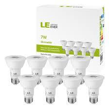 8 x par20 led bulb dimmable 7w 50w equivalent 2700k warm white