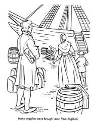Early American Transportation Coloring Page