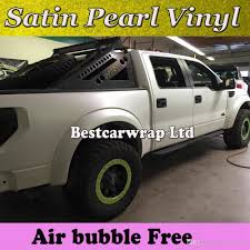 100 Vinyl Wrap Truck Satin Pearl White Matte Satin Matte Chrome White Car