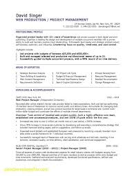 Project Manager Resume Unique Fresh Marketing