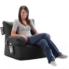 Image Is Loading Big Joe Bean Bag Chair Black Dorm Kids