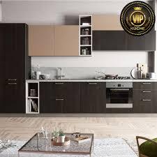 alpen moderne offene küche wohnküche für esszimmer wenge beige