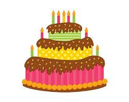 Cake Clipart Digital Vector Cake Happy Birthday Cake Party Celebration