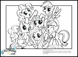 My Little Pony Printable Coloring Pages Friendship Is Magic Free Pictures