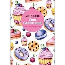 glückwunschkarten geburtstagskuchen 6 klappkarten inkl kuvert 115 x 170 mm