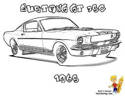 1965 Shelby Mustang GT 350 Fast Car Coloringpage At YesColoring