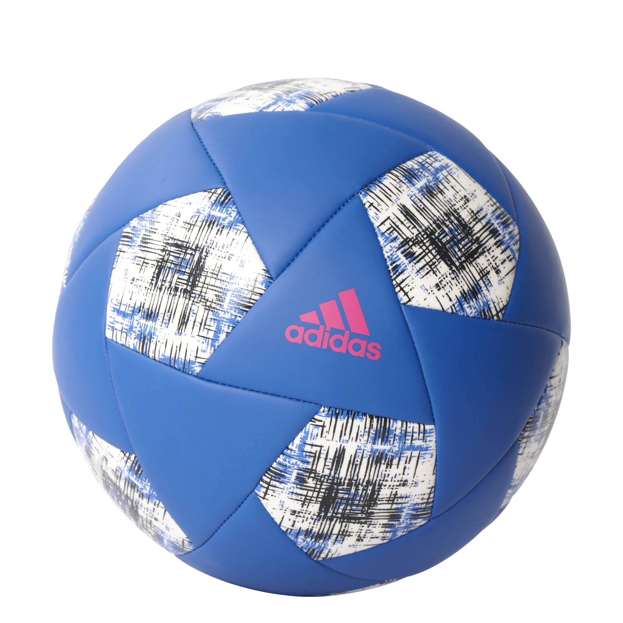 Adidas Performance X Glider Match Soccer Ball - Black, Blue and White, Size 5
