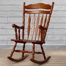 Solid Oak Rocking Chair | Wayfair