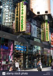 Street Scene Olive Garden Italian Restaurant in Times Square NYC