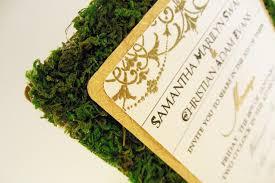 Rustic Garden Green Gold Ivory Wedding Invitations