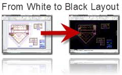 From White To Black AutoCAD Layout