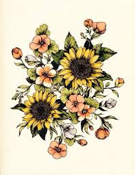Sunflower Drawing Tumblr 37 Best Tatted Images