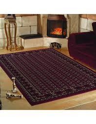 klassischer orientalischer wohnzimmer teppich marrakesh rot