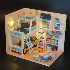 Personalized Topacc Hoomeda Sweet Time DIY Dollhouse Miniature With