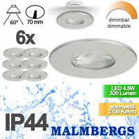 11er set badezimmer ip65 rostfrei gu10 halogen