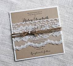 Rustic Wedding Invitations Lace Invitation Kraft Elegant Shabby Chic DIY