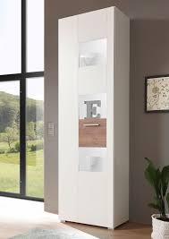 vitrine menorca 192cm weiß wildeiche dunkel standvitrine glasvitrine wohnzimmer