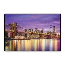 Amazoncom New York Bath Mats For Bathroom NYC Exquisite Skyline