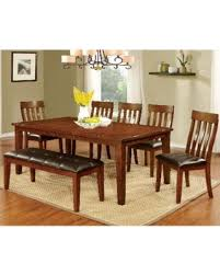 Furniture Of America Richmonte Country Style 6 Piece Cherry Red Dining Set