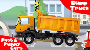 Dump Truck Crane & Bulldozer Working Together - Construction Trucks ...