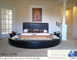 Amazon Queen Size Leather Round Bed with 2 Night Tables Item