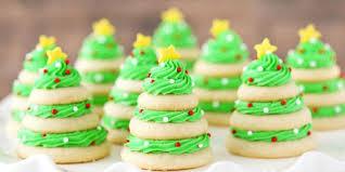Christmas Tree Cookie Stacks Horizontal