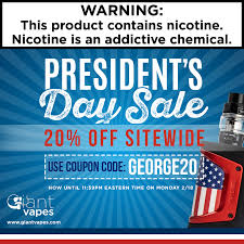 Take 20% Off EVERYTHING During Giant Vapes President's Day ... Giant Vapes On Twitter Save 20 Alloy Blends And Gvfam Hash Tags Deskgram Vape Vape Coupon Codes Ocvapors Instagram Photos Videos Vapes Coupon Code Black Friday Deals Vespa Scooters Net Memorial Day Sale Off Sitewide Fs 25 Infamous For The Month Wny Smokey Snuff Coupons Giantvapes Profile Picdeer Best Electronic Cigarette Vaping Mods Tanks
