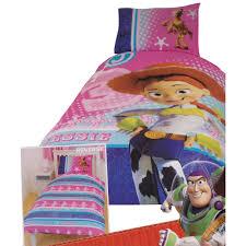 Dora Toddler Bed Set by Childrens Kids Girls Toy Story Jessie Reversible Quilt Duvet