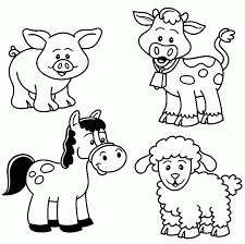 Baby Farm Animal Coloring Pages Wecoloringpage Printable Color Sheets Large Size