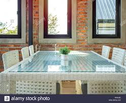 White Weave Chairs And Glass Table In Loft Style Restaurant. Modern ... Korean Style Ding Table Wood Restaurant Tables And Chairs Buy Small Definition Big Lots Ashley Yelp Sets Glamorous Chef 30rd Aged Black Metal Set Ch51090th418cafebqgg 61 Tolix Rectangular Onyx Matt Chair Fniture Side View Stock Vector The Warner Bar In 2019 Fniture Interior Indoors In Vintage Editorial Photography Image Town Quick Restaurant Table Chairs Bar Cafe Snack Window Blurred Bokeh Photo Edit Now