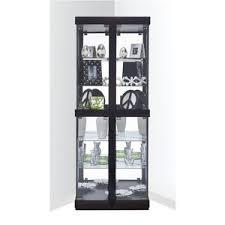 espresso corner china curio cabinets you ll wayfair