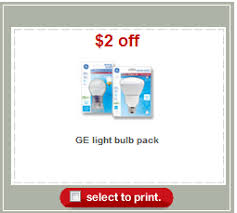 free ge light bulbs at target with coupon stack