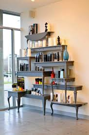 Product Display Shelves Fixtures From Repurposed Old Coffee Tables End At Benjamin Beau Salon