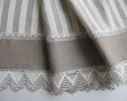 French Country Kitchen Cafe Curtains by Stripe Cafe Curtain Etsy