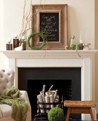Natural Spring Mantel Decor Bright Mossy Green Accents Absolutely Pop Off Of The Neutral Backdrop