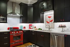 Black White Red Kitchen