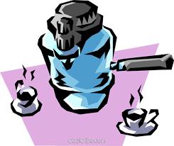 Espresso Coffee Machine Royalty Free Vector Clip Art Illustration