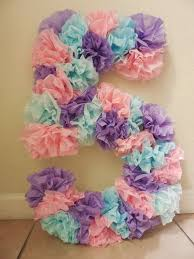 Tissue Paper Birthday Number