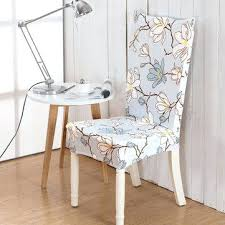 Stretch Chair Cover Elegant Flower Elastic Seat Computer Dining Room Home Wedding