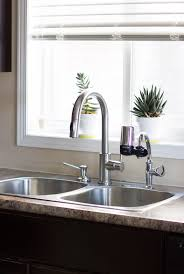 Delta Trinsic Faucet Black by A Simple Faucet Update Brittany Stager